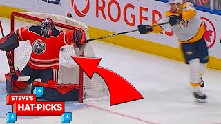 NHL Plays Of The Week: GOALIE GOAL! | Steve's Hat Picks