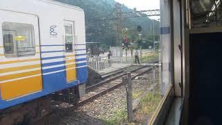 えちぜん鉄道 勝山駅から「勝山永平寺線」福井行きが発車(車内より)