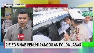 Rizieq Sihab Penuhi Panggilan Polda Jabar
