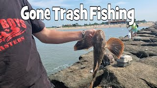 Gone Trash Fishing and Grilling on the Jetty with the BBQ Pit Boys