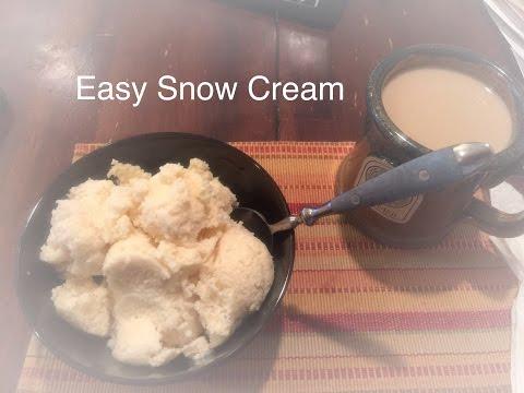 Easy Snow Cream