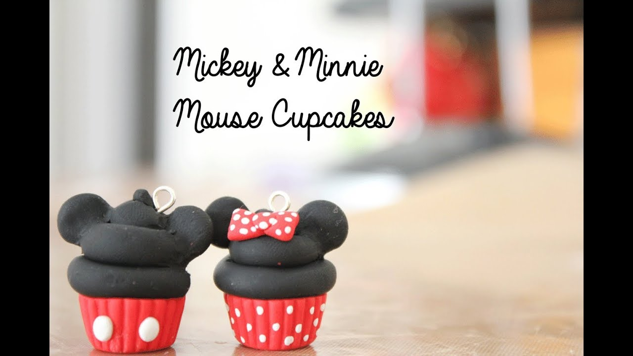polymer clay disney cupcakes mickey mouse minnie mouse. Black Bedroom Furniture Sets. Home Design Ideas