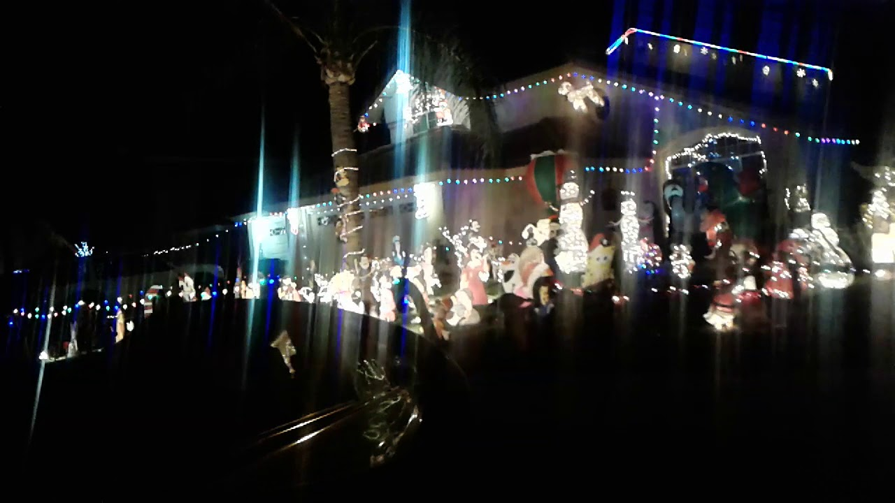 Christmas lights in Moreno valley - YouTube