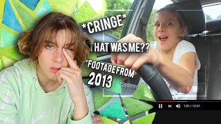 REACTING TO MY FIRST VIDEO ON YOUTUBE... (I was 13)