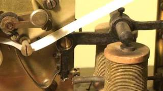 old telegraph - telegraf - with paper tape & ink