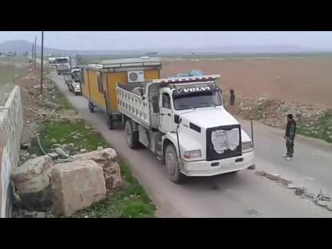 VIDEO 1 Reinforcements by Tiger Forces troops entering Damascus this morning 17 02 2018