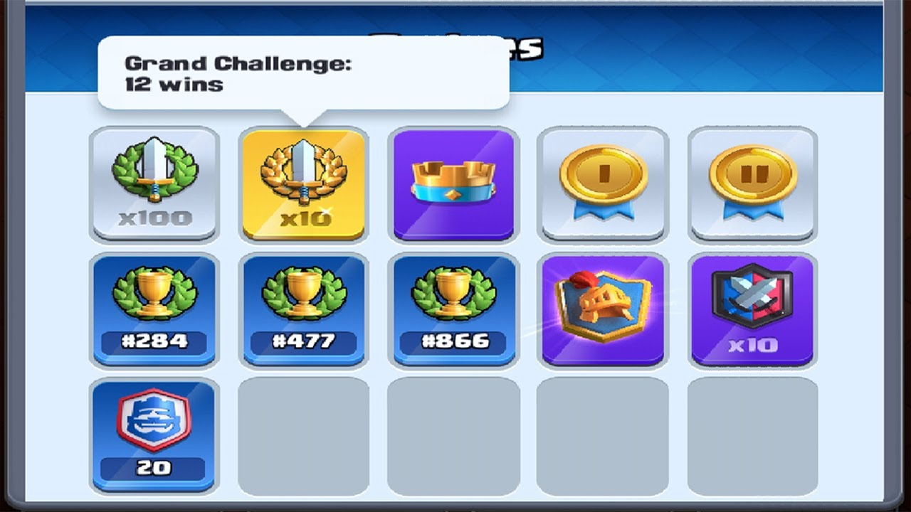 x10 12 Win Grand Challenges in Clash Royale 🌙