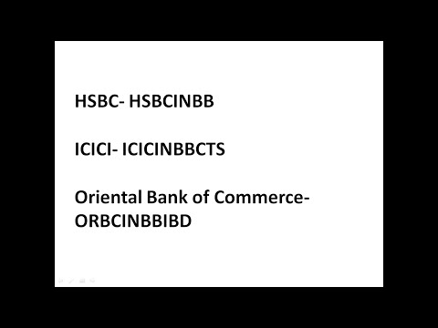 BANK SWIFT CODE FOR ALL BANKS IN INDIA