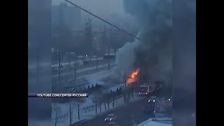 В Красноярске на улице Свердловская сгорело кафе