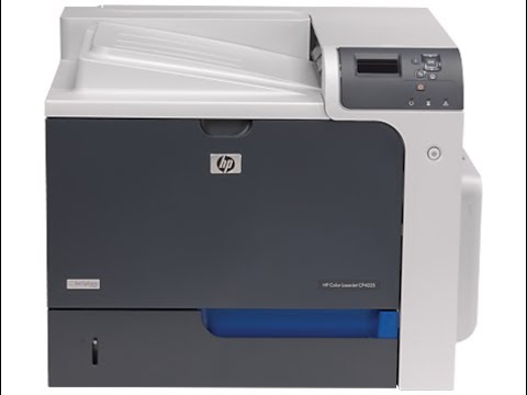 HP Color LaserJet CP4025 Configure IP network settings