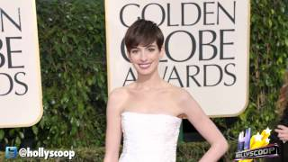 Anne Hathaway's Chanel Bride Look At (Golden Globe Awards 2013)