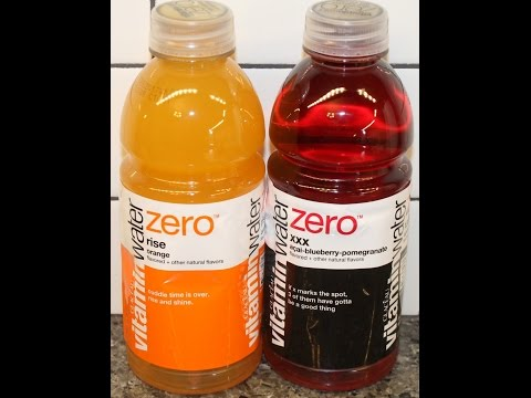 Glaceau VitaminWater Zero: Rise Orange and Acai-Blueberry-Pomegranate Review