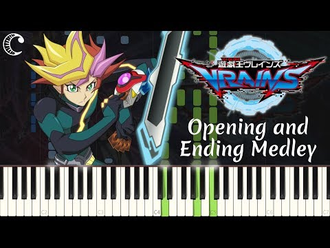 Opening and Ending Medley from Yu-Gi-Oh! VRAINS | Piano Cover (Synthesia)