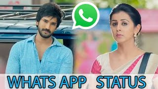 Cute Love WhatsApp status video Telugu💓 Marakathamani |  Aadhi Pinisetty  |  Nikki Galrani |