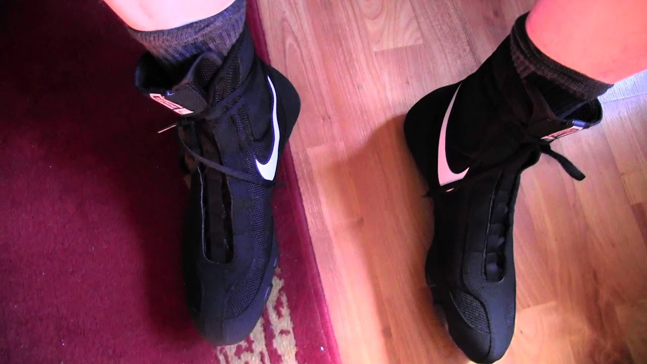 da7cfd1b187 Nike MACHOMAI boxing boots in black - YouTube