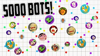 9,999 Agar.io Bots // 90K MASS // TEAMING WITH RANDOMS *not clickbait* thumbnail