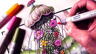 Let's Draw a FOREST JELLYFISH - FANTASY ART FRIDAY