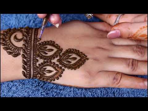 Back hand mehndi design | 2018 | new style