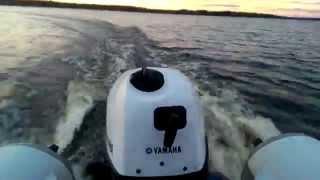 лодочный мотор Yamaha F5AMHS & ALTAIR 335(мотор 2012г. 40 мото ч. Лодка 2013г. килевая Для новичка думаю норм) 23 км в час., 2014-10-17T19:45:48.000Z)