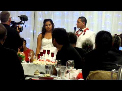 Speeches of the Bride & Groom in the Reception in Tauranga