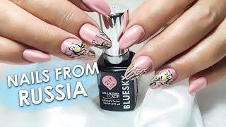 nails from Russia Nail art nail correction