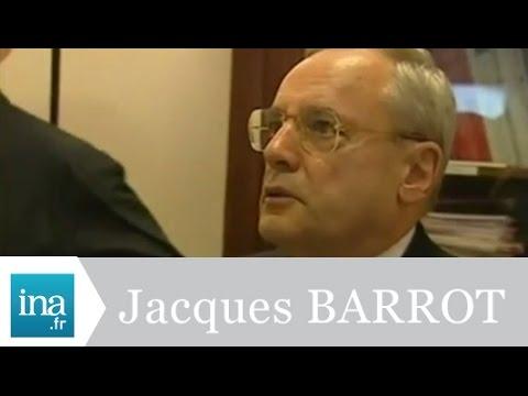 Les larmes de Jacques Barrot devant les résultats du 21 avril 2002