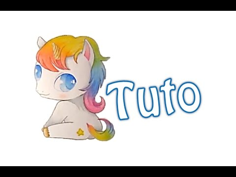 Tutoriel n 19 dessiner une licorne kawaii youtube - Dessin licorne kawaii ...