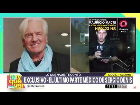 Información exclusiva sobre la salud de Sergio Denis