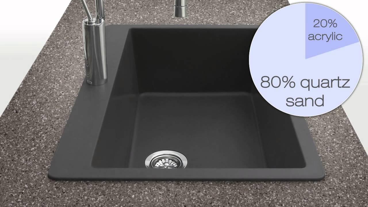 Houzer Quartztone Granite Series Kitchen Sinks At KitchenSource.com    YouTube