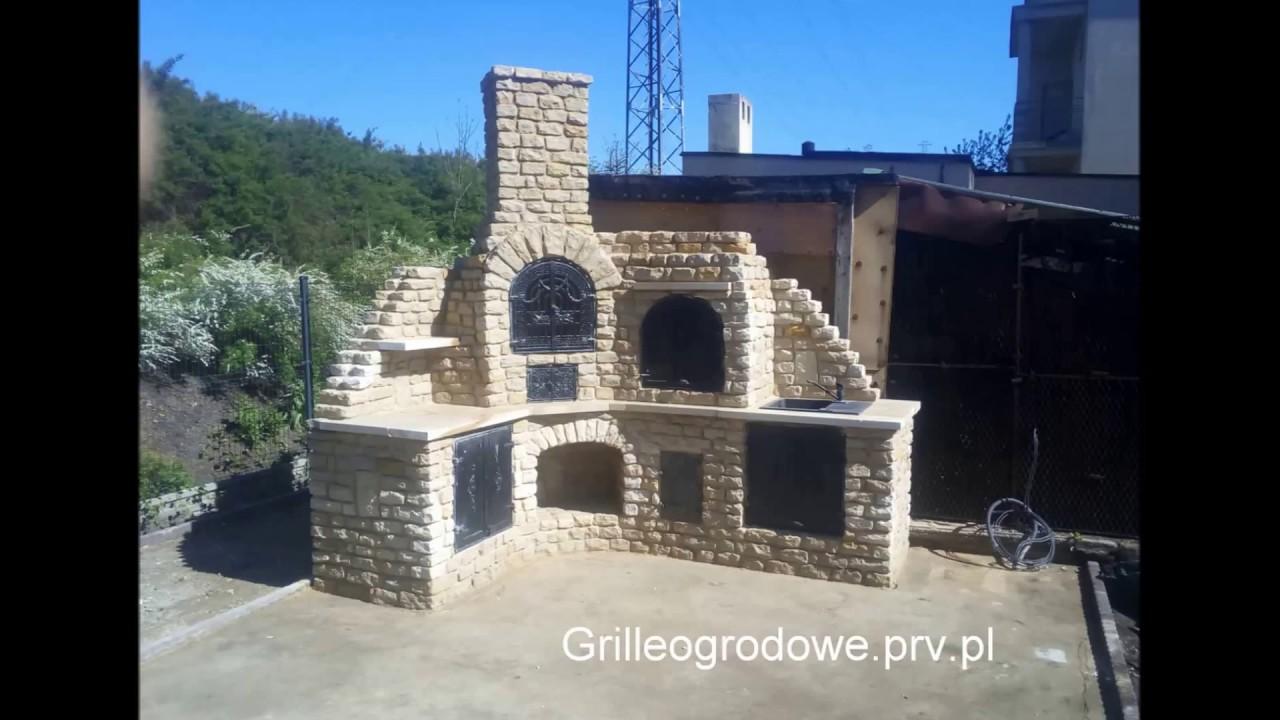 Grille Ogrodowe Wędzarnie Piec Chlebowygrill Ogrodowy Elewacja Z Piaskowca