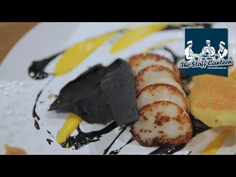 2 Michelin star chef Sat Bains creates scallops and chocolate recipes