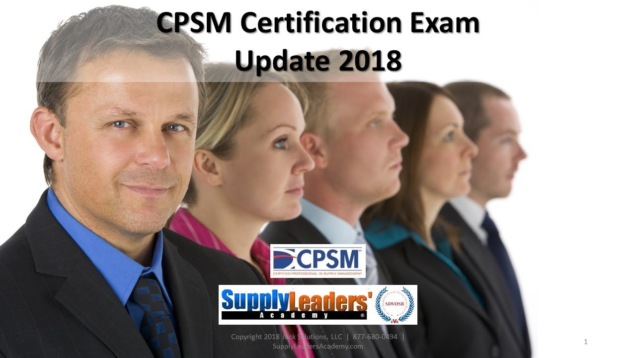 Cpsm Certification Update For Procurement Career In Purchasing For