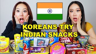 KOREAN SISTERS TRY INDIAN SNACKS FOR THE FIRST TIME! 😮