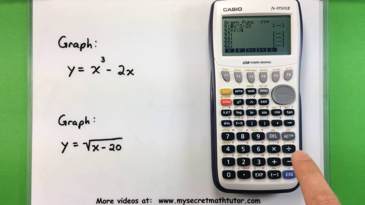 9397fae6c546 Basic Math - Graphing with a Casio fx-9750GII Calculator - YouTube