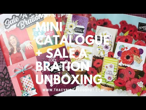 Stampin Up's Mini Catalogue & Sale A Bration Preorder Unboxing!