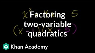 Example 5: Factoring quadratics with two variables (leading coefficient is 1) | Khan Academy