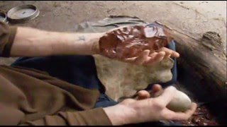 knapping obsidian first larger bi face part one