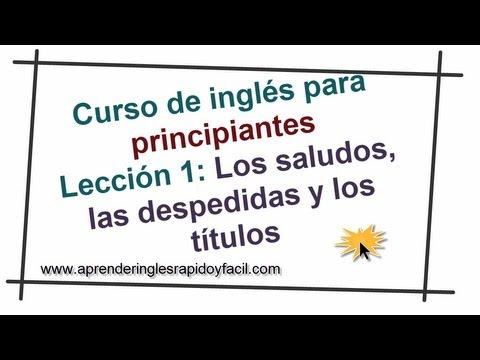 Saludos Y Despedidas En Inglés Con Explicación