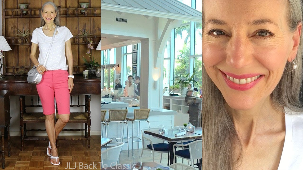 Vlog: Lunch Timeless Eatery, Naples FL, Bermuda Shorts OOTD / Classic Fashion, Style Over 40, 50