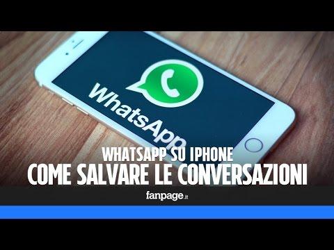 Salvare Le Chat Di WhatsApp Con L'iPhone