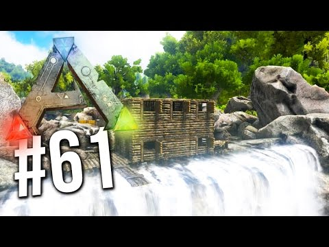 Ark Survival Evolved - EPIC WATERFALL BASE BUILD! [61] (Ark Survival Gameplay)