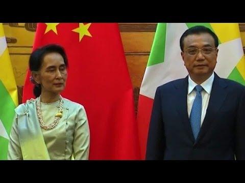 Aung San Suu Kyi begins diplomatic trip of China