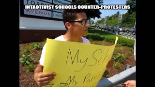 BLOODSTAINED MEN SCHOOL COUNTER-PROTESTERS