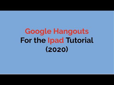 Google Hangouts For Ipad Tutorial 2020