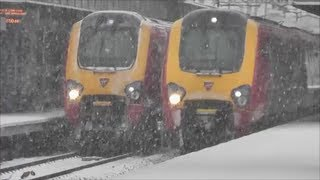 Trains at Milton Keynes Central *Heavy Snow* | 18/01/13