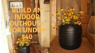 How to make an outhouse in the barn for under $40, Farmhouse Restoration, Homestead