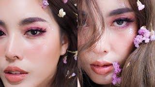Purple Makeup 💜💜💜 แต่งหน้าโทนสีม่วง 🤲🏻🧝🏻♀ l Bew Varaporn