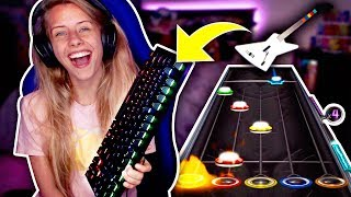 Video PLAYING GUITAR HERO WITH A KEYBOARD LOL (Clone Hero) download MP3, 3GP, MP4, WEBM, AVI, FLV Oktober 2018