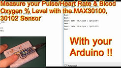 Blood Oxygen & Heart Rate Measurement with MAX30100 Pulse Oximeter