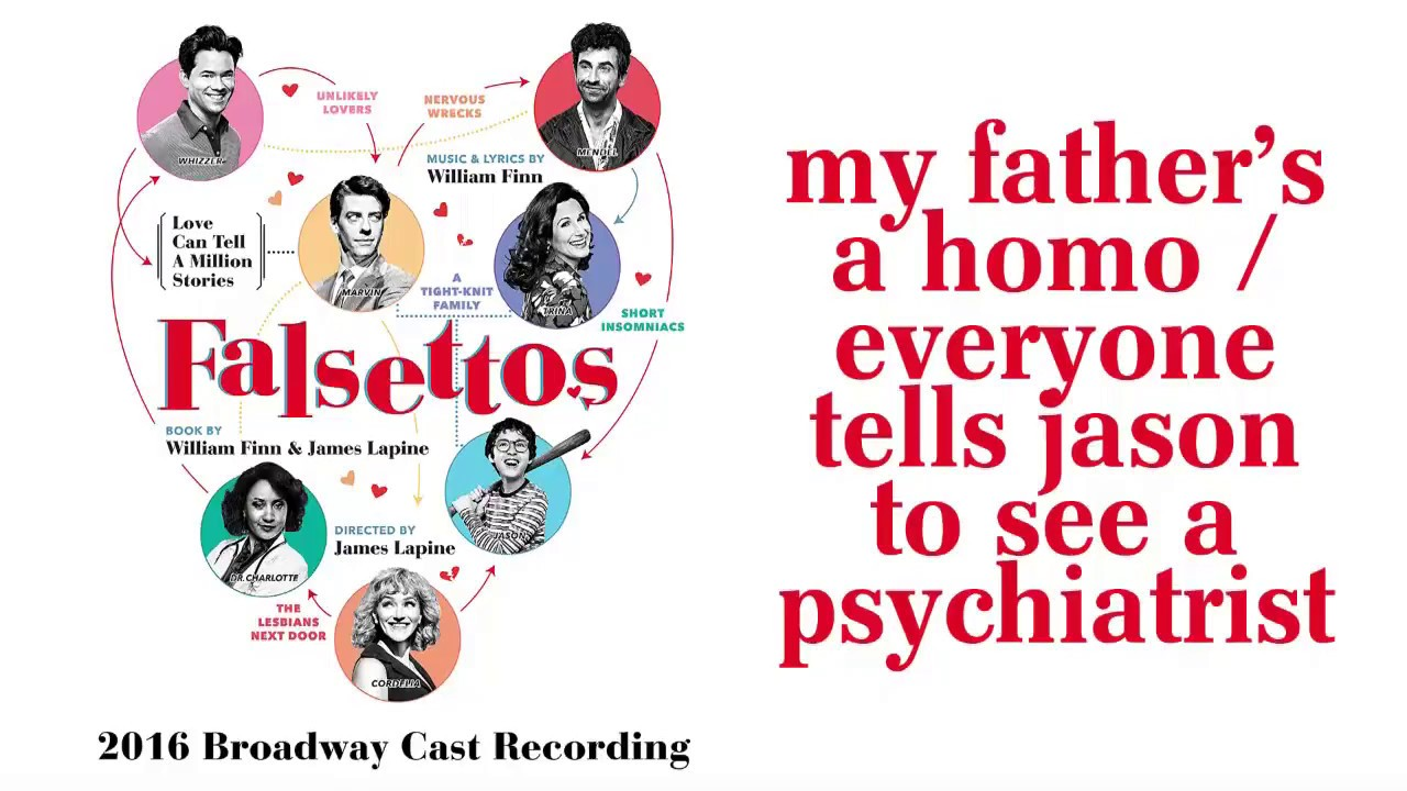 My Father's A Homo / Everyone Tells Jason To See A Psychiatrist— Falsettos (Lyric Video) [2016B